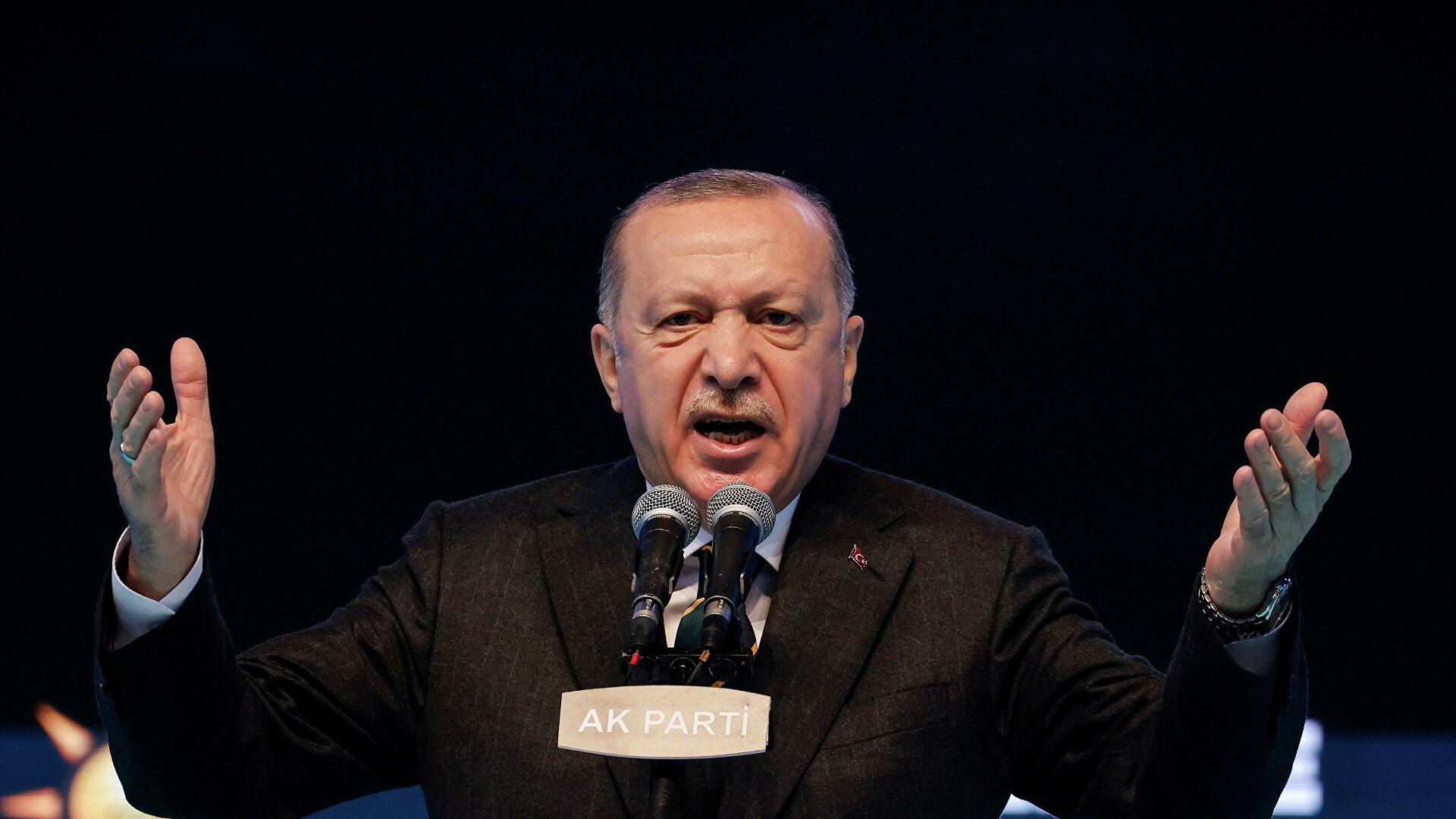 Эрдоган обвинил США в