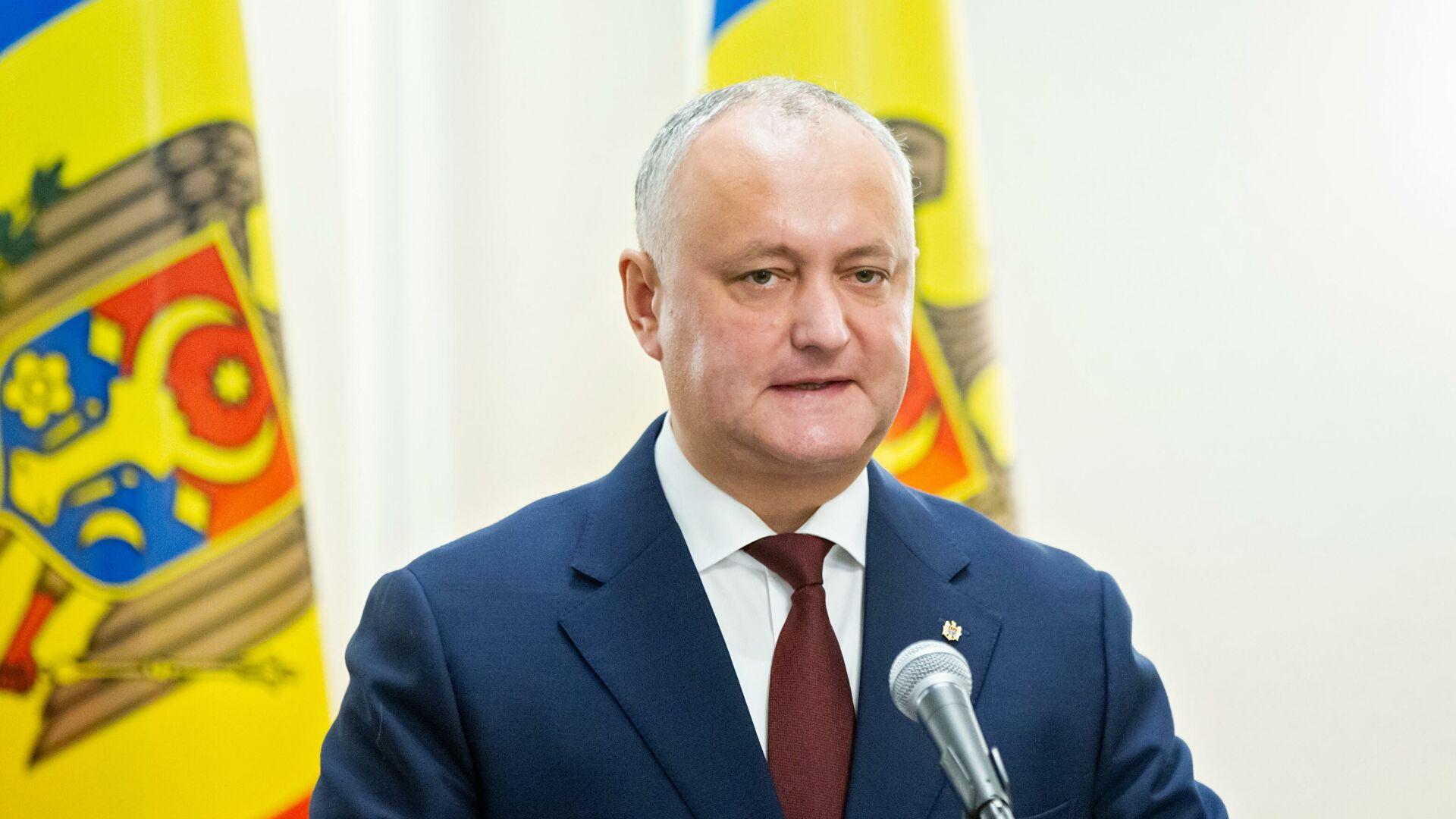 Додон заявил о планах Запада использовать Молдавию против России