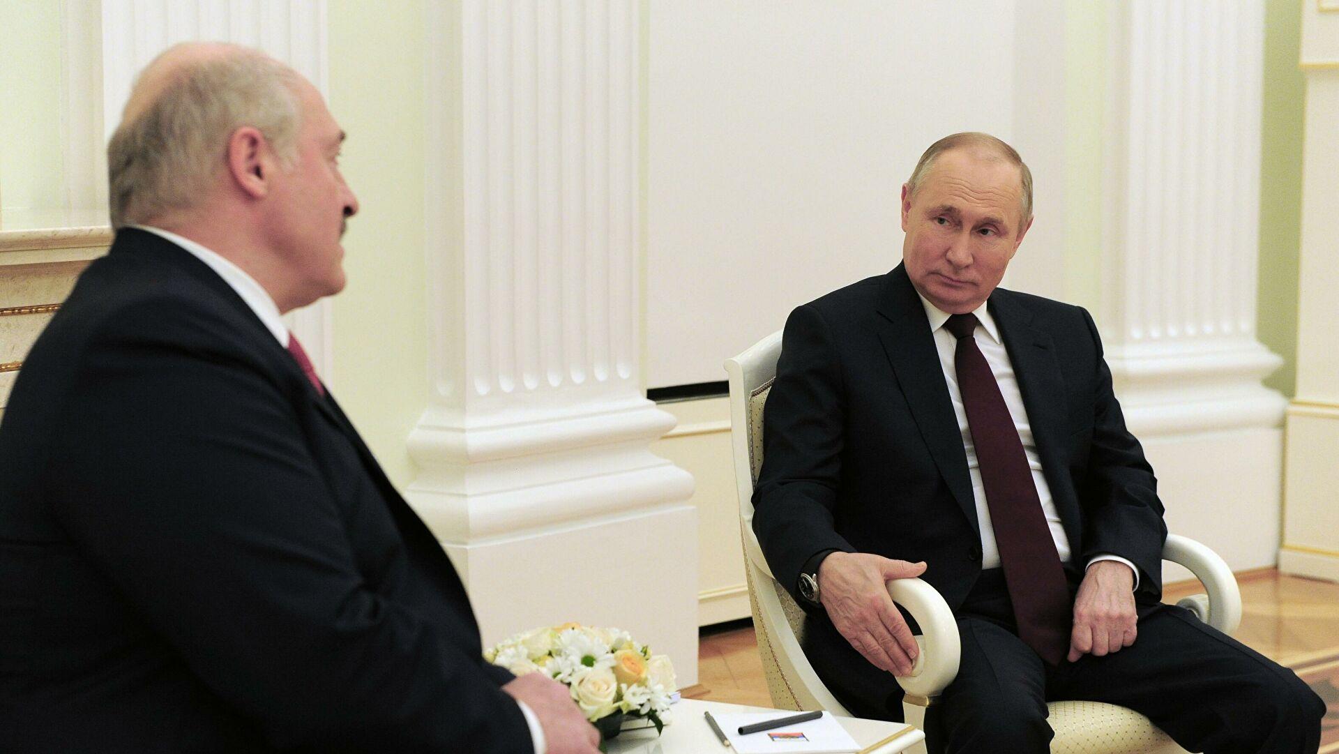 В Кремле назвали темы встречи Путина и Лукашенко