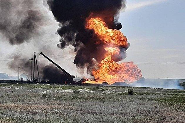 Под Саратовом горит магистральный газопровод