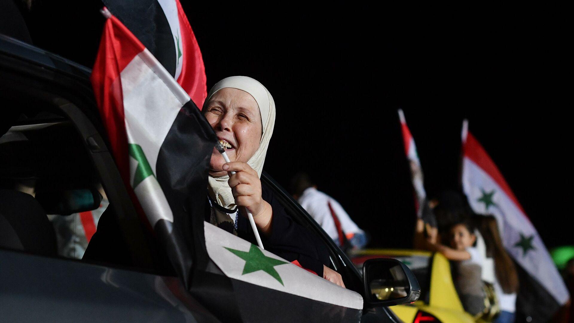 Празднование победы Асада на выборах продолжалось до глубокой ночи
