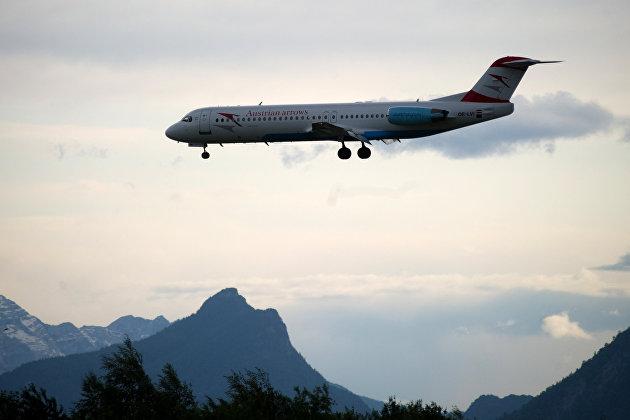 Россия выдала разрешение Austrian Airlines на рейс в облет Белоруссии